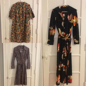 Bundle of 3 Vintage Dresses from 1970's